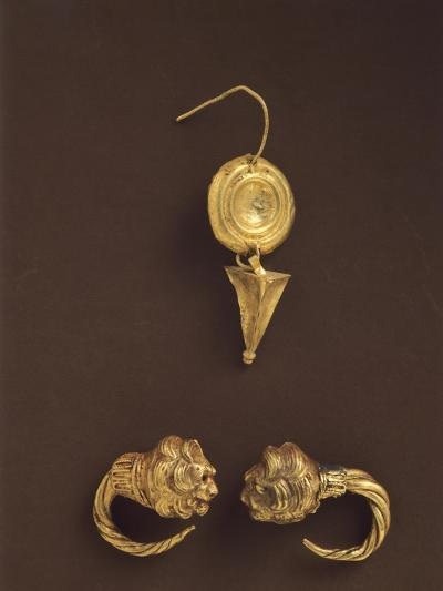 Gold Earrings, 4th-3rd Century BC--Giclee Print