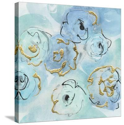 Gold Edged Teal II-Chris Paschke-Stretched Canvas Print