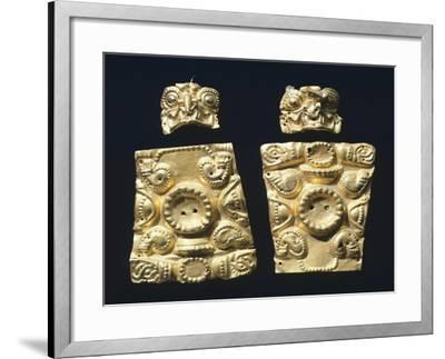 Gold Embossed Plaque Originating from La Tolita--Framed Giclee Print