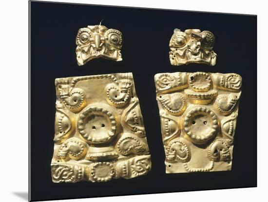 Gold Embossed Plaque Originating from La Tolita--Mounted Giclee Print