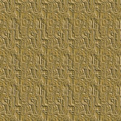 Gold Embossed Tile-Ruth Palmer-Art Print
