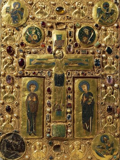 Gold, Enamel and Precious Stones Book Binding Depicting Crucifixion, around 1200--Giclee Print