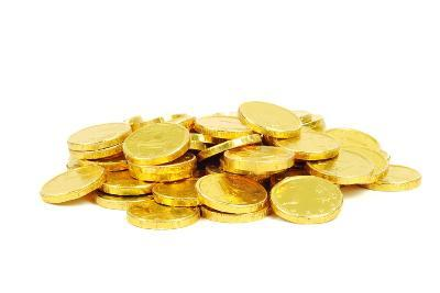 Gold Euro Coins- teena137-Photographic Print