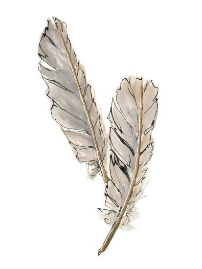 Gold Feathers VIII-Chris Paschke-Art Print