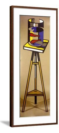 Gold Fish Bowl on Table-Roy Lichtenstein-Framed Art Print
