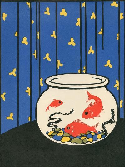 Gold Fish in Bowl--Art Print