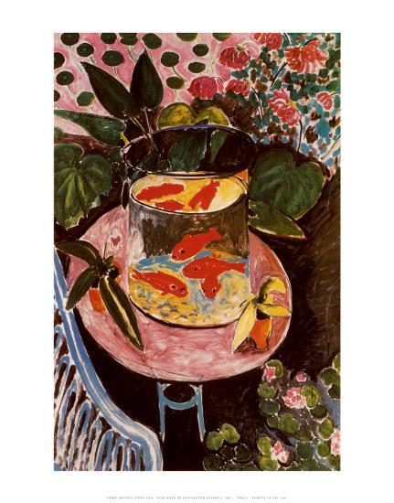 Gold Fish-Henri Matisse-Art Print