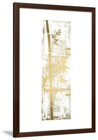 Gold Foil Bamboo I-Jennifer Goldberger-Framed Art Print