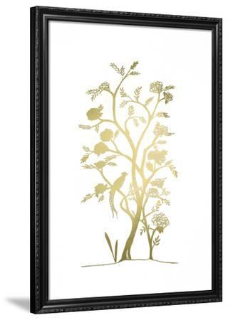 Gold Foil Chinoiserie III-Chariklia Zarris-Framed Art Print