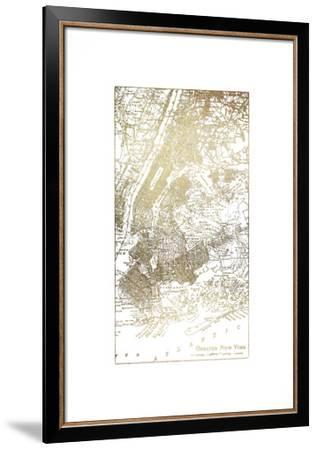 Gold Foil City Map New York-Vision Studio-Framed Art Print