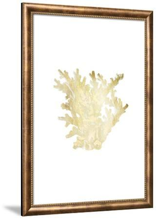 Gold Foil Coral I-Vision Studio-Framed Art Print