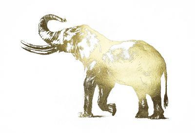 Gold Foil Elephant I-Ethan Harper-Art Print