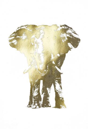 Gold Foil Elephant II-Ethan Harper-Art Print