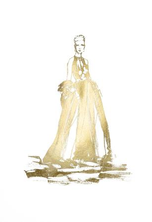 Gold Foil Fashion-Alicia Ludwig-Framed Art Print
