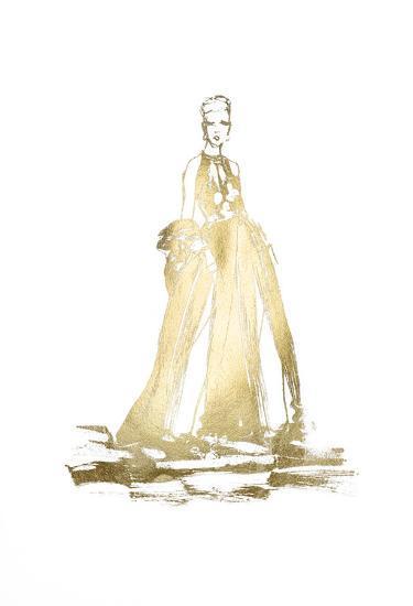 Gold Foil Fashion-Alicia Ludwig-Art Print