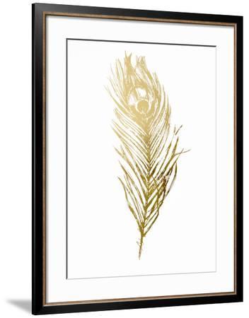 Gold Foil Feather II-Vision Studio-Framed Art Print