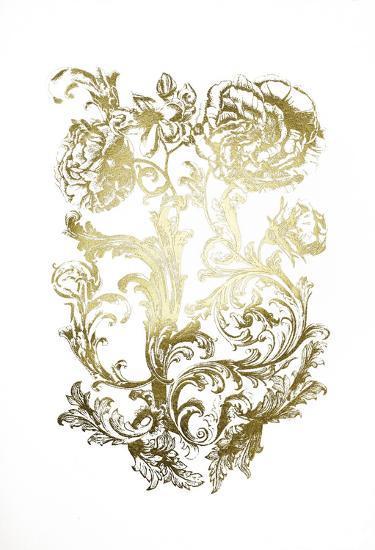 Gold Foil Flora & Filigree-Naomi McCavitt-Art Print