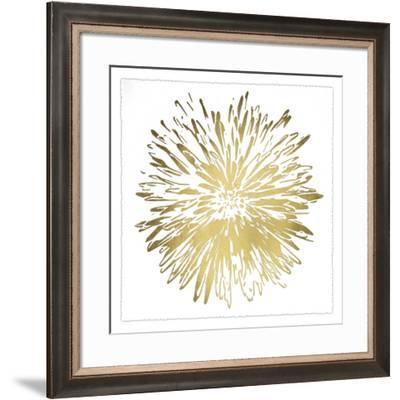Gold Foil Flower Burst I Deckled-Renee W. Stramel-Framed Art Print