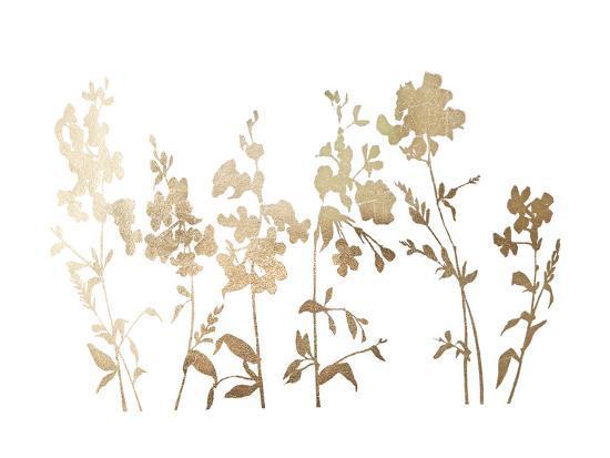 Gold Foil Flower Field-Vision Studio-Art Print