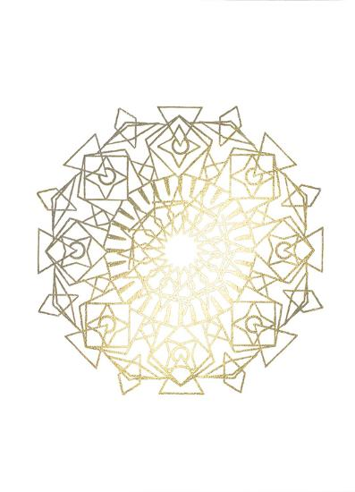 Gold Foil Mandala I-Chariklia Zarris-Art Print