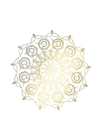 Gold Foil Mandala III-Chariklia Zarris-Art Print