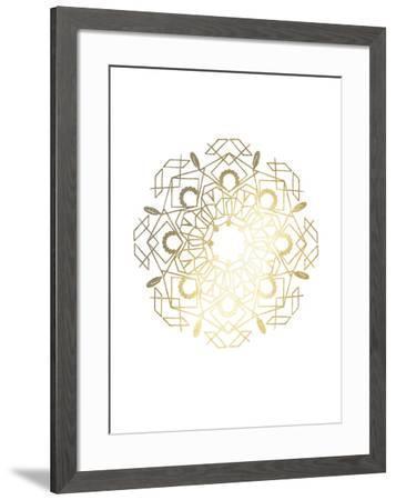 Gold Foil Mandala IV-Chariklia Zarris-Framed Art Print
