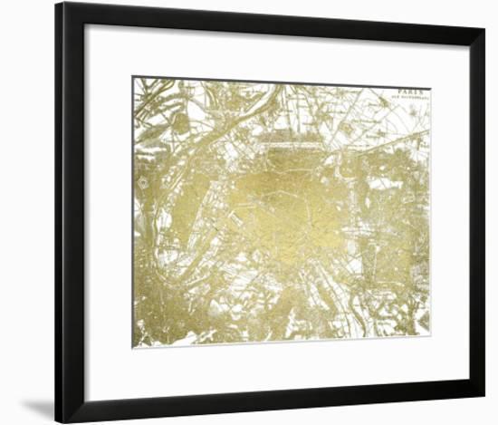 Gold Foil Maps I-Vision Studio-Framed Art Print