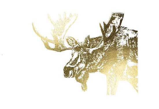Gold Foil Moose-Naomi McCavitt-Art Print