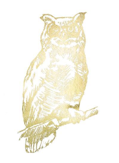 Gold Foil Owl II-Jennifer Goldberger-Art Print