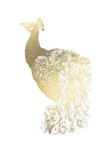 Gold Foil Peacock I-Grace Popp-Art Print