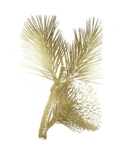 Gold Foil Pine Cones III-Vision Studio-Art Print