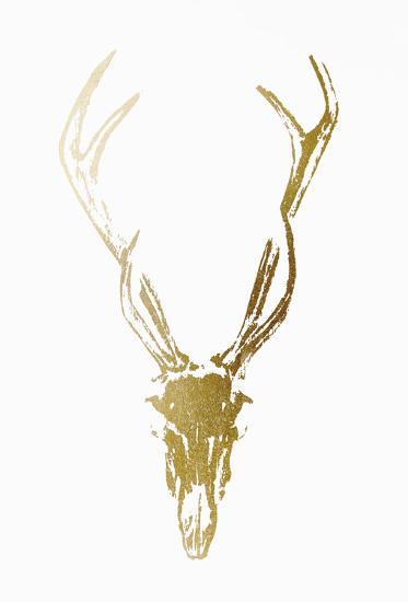 Gold Foil Rustic Mount I on White-Vision Studio-Art Print