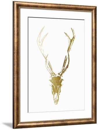 Gold Foil Rustic Mount I on White-Ethan Harper-Framed Art Print