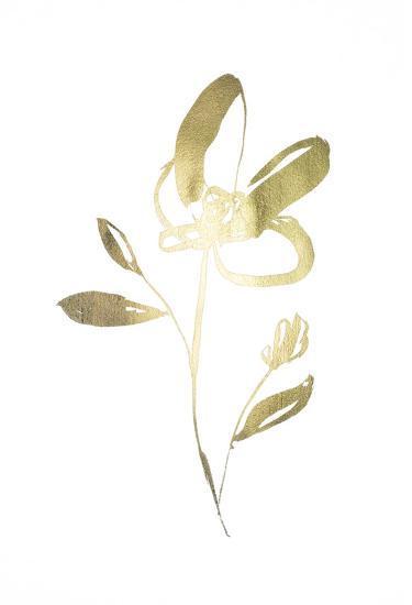 Gold Foil Sumi-e I-Jennifer Goldberger-Art Print