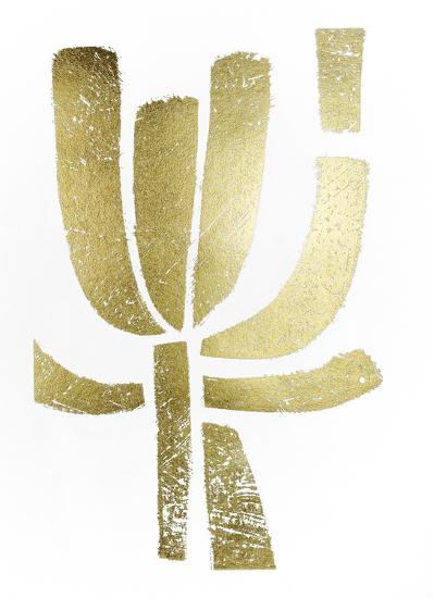 Gold Foil Symbiotic II-June Erica Vess-Art Print