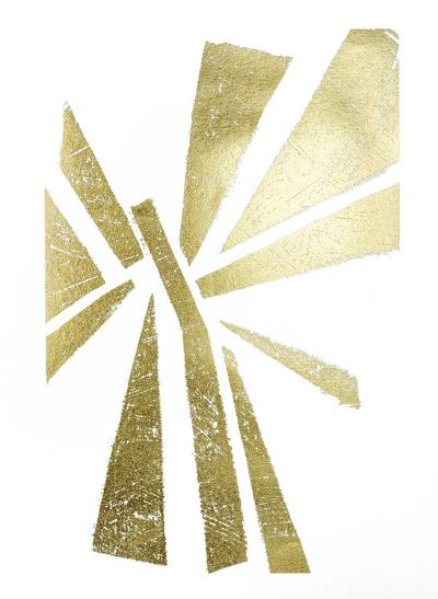 Gold Foil Symbiotic IV-June Erica Vess-Art Print