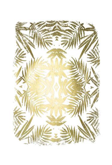 Gold Foil Tropical Kaleidoscope I-June Erica Vess-Art Print