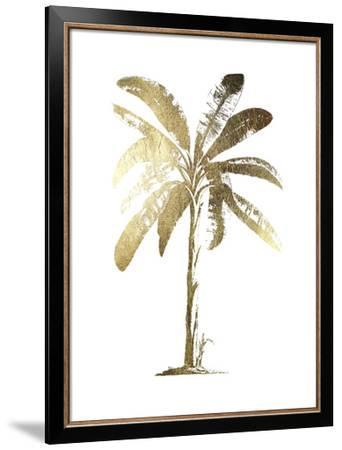 Gold Foil Tropical Palm II-Vision Studio-Framed Art Print