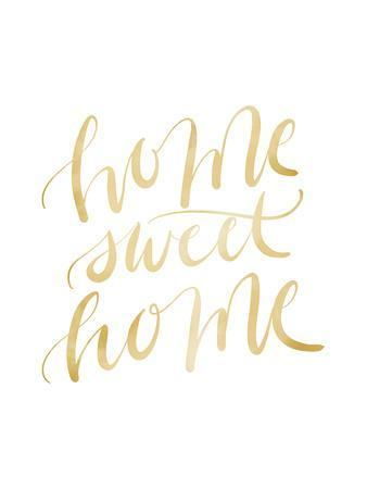 graphic relating to Home Sweet Home Printable referred to as Gold Property Cute Property Typography Artwork Print by means of Jetty Printables