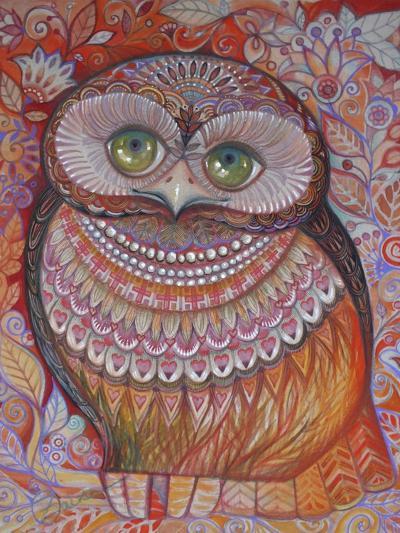 Gold Honew Owl-Oxana Zaika-Giclee Print