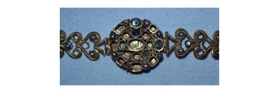 Gold jewelled Roman bracelet-Unknown-Giclee Print