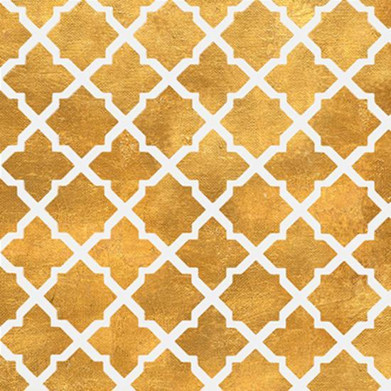 Gold Lattice II (gold foil)-Jairo Rodriguez-Art Print
