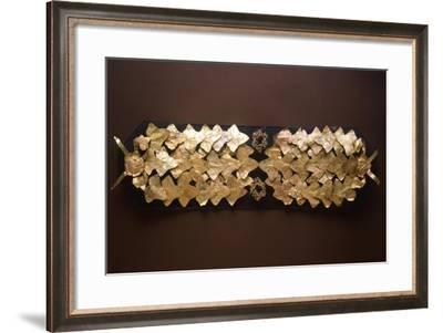 Gold Leaf Crown. Etruscan Civilization, 4th-3rd Century BC--Framed Giclee Print