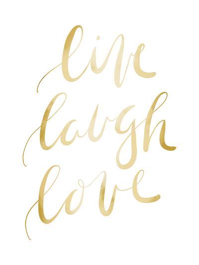 Gold Live Laugh Love Typography-Jetty Printables-Art Print