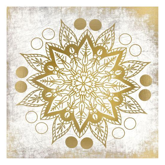 Gold Mandala 3-Kimberly Allen-Art Print