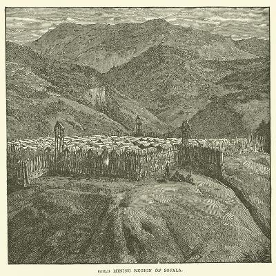 Gold Mining Region of Sofala--Giclee Print