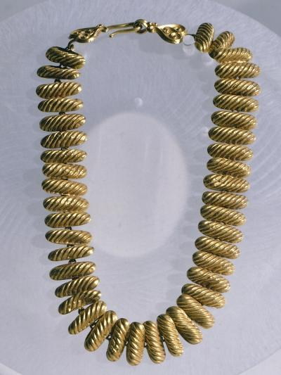 Gold Necklace Made Up of 42 Semi-Cylindrical Elements--Giclee Print