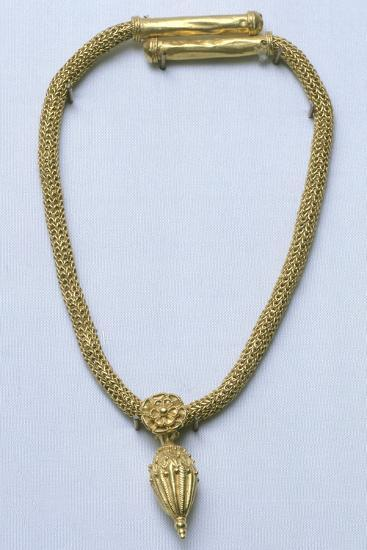 Gold Necklace with Pendant, from Monte Luna--Giclee Print