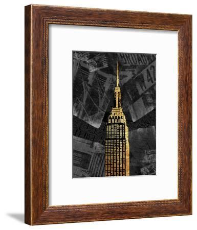 Gold NY-Jace Grey-Framed Art Print