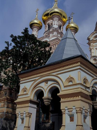 Gold Onion Dome of Alexander Nevsky Cathedral, Russian Orthodox Church, Yalta, Ukraine-Cindy Miller Hopkins-Photographic Print